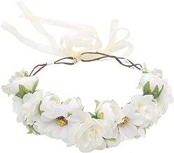 Laimew Pizzo da sposa fiore Fascia per capelli con vestito lungo principessa a nastro Accessori per capelli per le ragazze