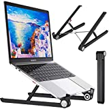 Foldable Laptop Stand with Adjustable Height Ergonomic Portable Laptop Riser Holder Compatible with 10~15.6' ASUS, HP, MacBook Air Pro, Microsoft, Acer, Lenovo