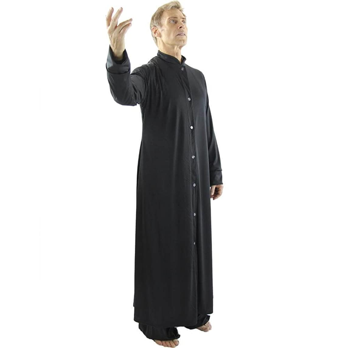 Danzcue Mens Praise Worship Dance Robe with Stand-up Collar