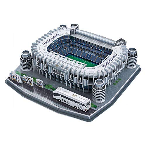 H-O Sports Stadium Modelo 3D, Real Madrid Bernabeu Stadium Modelo Souvenir DIY Puzzle, 14'x14 x4