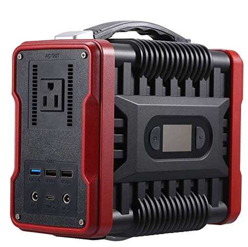 UKing Power Station,222Wh/60000mAh Générateur d'Énergie Solaire Portable Onduleur AC et DC avec 4 Ports USB,Solaireb Générateur d'urgence Station pour Le Camping en Plein Air