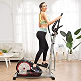 Home Elliptical Machine Exercise with LCD Monitor, Magnetic Smooth Quiet Health Fitness Workout...