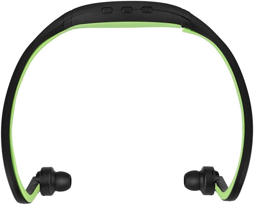 Bluetooth Headset, Sport Wireless Bluetooth 4.1 Neckband Earphone Stereo Headphones Headset w/Mic, TF Card Slot and Hands-Free Calls(Green)