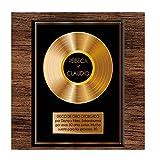 Calledelregalo Regalo Original: Disco de Oro Personalizado con Nombres y dedicatoria