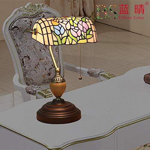 Tiffany Barock Orientalische Marokkanische Mosaik Glaslampe Tischlampe Retro, Glasmalerei Lampenschirm Reißverschluss Zink Basis, Wohnzimmer Schlafzimmer Couchtisch Bar Cafe, Tulip Bank Lampe