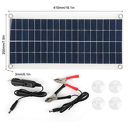 Cargador Solar portátil, Cargador de Panel Solar de Apariencia Simple Ampliamente Utilizado Durable para Usar Tablero de Carga Solar para Acampar y Viajar