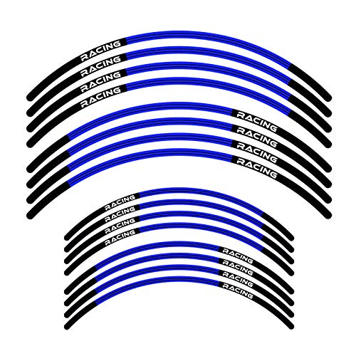 KETABAO Dirt Bike Rim Tape L01 Decals Stickers Protector 21 19 inch For Yamaha YZ250F 01-21 YZ450F 18 19 20 21 (Blue)