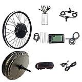 CRMY Kit De Bicicleta Eléctrica 48V 500W 20'/24'/26'/27.5'/28'/29'/700C Rueda De Motor Delantero Kit De Motor De Conversión De Bicicleta Eléctrica Bicicleta Eléctrica Ciclismo con Pantalla KT-LCD7