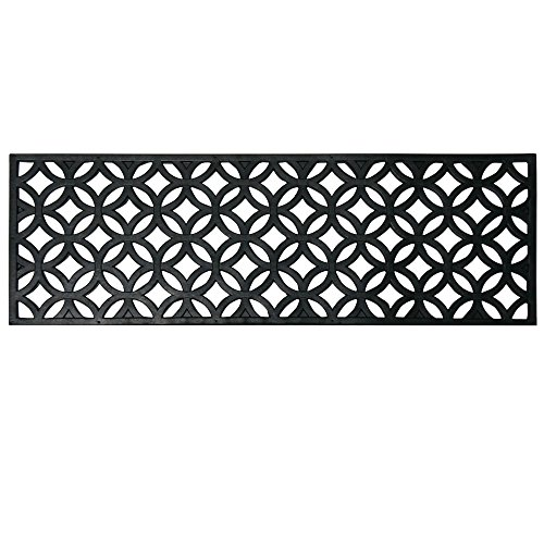 Rubber-Cal Azteca Indoor Outdoor Stair Treads Rubber Step Mats (6-Pack), 9.75 by 29.75-Inch, Black