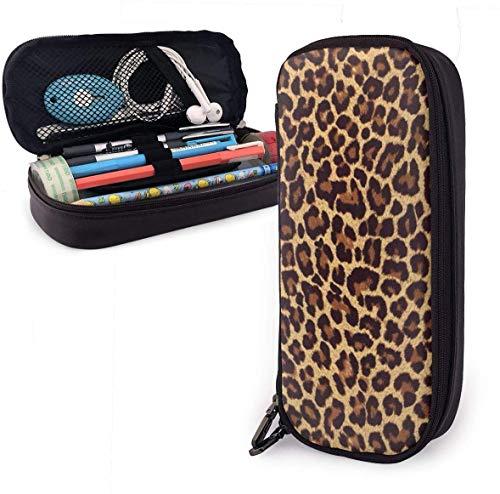 Coole Cheetah Leopard große Kapazität Federmäppchen Leder Schreibwaren Organizer Pouch
