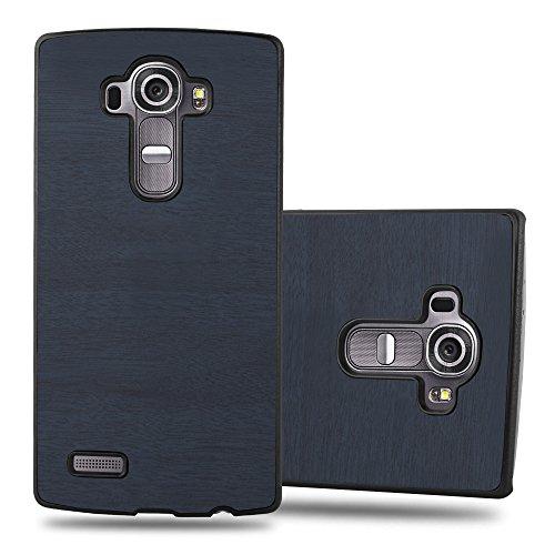 Cadorabo Custodia per LG G4 / G4 Plus in Woody Azzurro - Rigida Cover Protettiva Sottile con Bordo Protezione - Back Hard Case Ultra Slim Bumper Antiurto Guscio Plastica