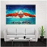 wzgsffs Michael Phelps Wandkunst Poster Und Drucke Gemälde
