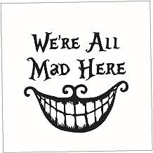 1 St Halloween Muursticker Citaat We Zijn Allemaal Gek Hier Muursticker Glimlachende Mond Muurstickers Citaten Wall Decor ...