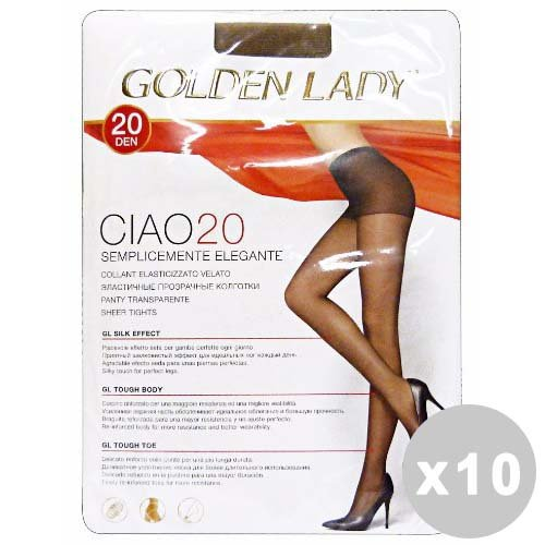 Ciao Set 10 Collants 20 Den Marron Castor Taille IV 36o