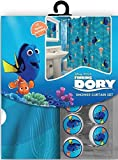 Disney Findet Nemo's Dorie Duschvorhang & Haken, 13-teiliges Set