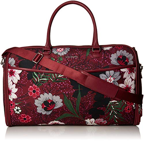 Vera Bradley Iconic Convertible Garment Bag, Bordeaux Meadow, One Size