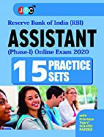 15 PRACTICE SETS? With Previous Years? Solved Paper:- ?ASSISTANT? RESERVE BANK OF INDIA? (RBI)-(PHASE-I), Online Exam 2020
