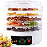 Secadora Eléctrica, Deshidratador De Alimentos De 5 Placas, Con Temporizador Y Control De Temperatura, Adecuado Para Carne...