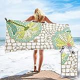mengmeng Mosaico margaritas en la arena Toalla de secado rápido para deportes, gimnasio, viajes, yoga, camping, natación, súper absorbente, compacto, ligero, toalla de playa