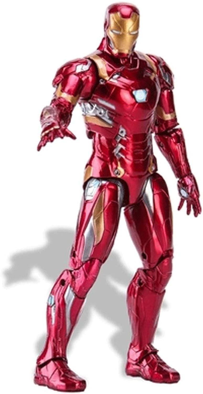 Wen Zhe Superheld Eisen MK43 Mann Action Figure 12 inch Iron Man Puppe PVC figur Spielzeug Anime Figur kinder spielzeug Neue Ankunft Spielmodell