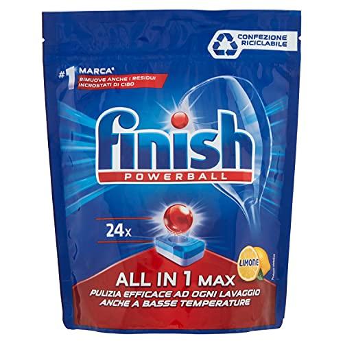 Finish Pastiglie Lavastoviglie All In 1 Max Limone - Powerball, 24pz