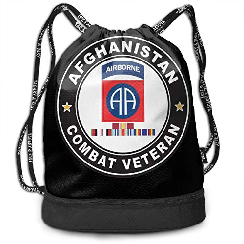 Petrichor Yi Us Army 82Nd Airborne Division Noorwegen Gwot banden Combat Veteran Bundle rugzak Grappige make-up tas