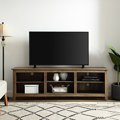 Home Accent Furnishings New 70 Inch Wide Television Stand in Rustic Oak Finish
