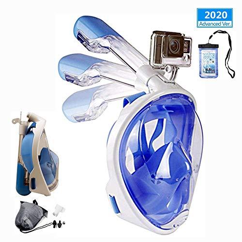 Churidy Volgelaatsmasker, duikmasker, volgelaatsmasker met 180° gezichtsveld, afdichting van silicone, anti-condens, waterdicht, anti-lektechnologie, voor volwassenen en kinderen