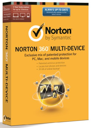Norton 360 Multi Device 2.0 - 3 Computers - 1 Year Subscription [import anglais]
