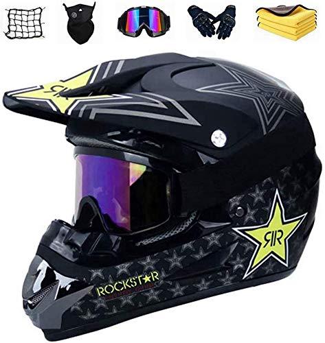 GAODA Motocross Helm,Motorrad Crosshelm für Mountainbike ATV BMX Downhill Offroad, Jugend Sturzhelm Schutzhelm, Adult Downhill Helme Endurohelme Kinder Quad Bike ATV Go-Kart-Helm. (M)