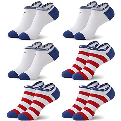 PPaoteman 6pcs Calcetines De Algodón para Hombres Calcetines De Verano para Hombres Calcetines De Corte Bajo para Hombre Delgado