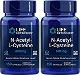 Life Extension N-Acetyl-L-Cysteine (NAC) 600mg, 150 Capsules (Pack of 2)