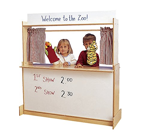 "Childcraft 3129 Dramatic Play Center, 49.75"" Height, 12.25"" Width, 47.75"" Length, Natural Wood"