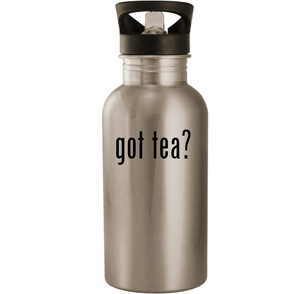 got tea? - Stainless Steel 20oz Road Ready Water Bottle, Silver
