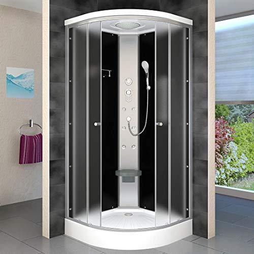 AcquaVapore DTP10-0310 Dusche Duschtempel Duschkabine Fertigdusche 80x80cm JA mit 2K Scheiben Versiegelung
