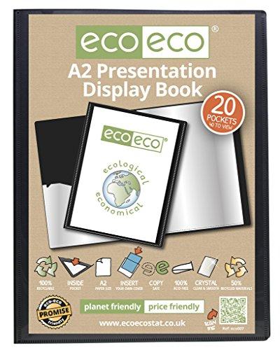 eco-eco 007 A2 50% Riciclata 20 Taschino Colore Nero Presentazione Mostra Libro