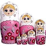 RAILONCH 7 Stücken Matroschka handgemacht Das Lindenholz Geschenk Spielzeug Dolls Marionette...