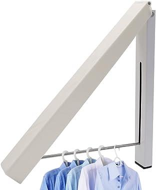 YOOKOON 1pcs Durable Cintre Pliant en Acier Inoxydable Support Mural Plat Vêtements Pliable cintres Gain de Place pour hôtel