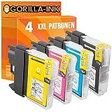 Gorilla de Ink® 4cartuchos de impresora XXL compatible para Brother LC985Black cian Magenta Yellow