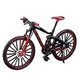 Renoble Bicicleta de Dedo Modelo de Mini Bicicleta Modelo de Bicicleta de Dedo de Metal en Miniatura Bicicleta de montaña de Dedo Desmontable Juguetes de Bicicleta creativos para niños Niños Niños