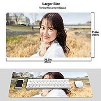 人気やぶき なこyabuki Nako1 ワイヤレス マウスパッド 耐久性が良い 防水 滑り止めゴム底 ゲーム オフィス 多機能 マウスパッ