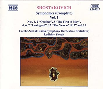 SHOSTAKOVICH : Symphonies (Complete) Vol.  1