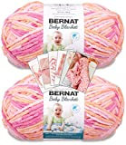 Bernat Baby Blanket Yarn - Big Ball - 2 Pack with Patterns (Peachy)