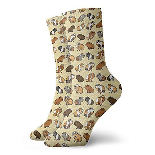 Meerschweinchen-Socken, Unisex, atmungsaktiv, modisch, Quarter-Socken, Laufsocken, Sportsocken und Freizeitgebrauch