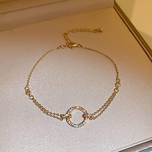 Geometria diamante braccialetto nicchia cerchio texture mano gioielli donna
