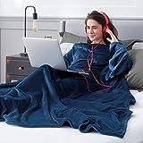 Bedsure Batamanta Polar Mujer Hombre Sofa - Manta con Mangas y Bolsillo Hombre para Pies de TV,Blanket Hoodie Suave y...