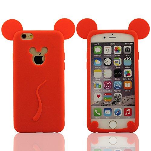 Súper Suave Elástico & Super Delgado Compatible con iPhone 6 (4,7 pulgadas) y iPhone 6S (4,7 pulgadas) Funda Carcasa, Mickey Estilo Diseño,...