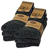 sockenkauf24 6 Pares Calcetines Noruegos con Lana Hombre Mujer Calcetines de Invierno Negro Gris Antracita (39-42, 6 Pares | Antracita)
