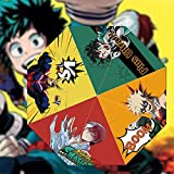 KaiWenLi My Hero Academia Poster Promotional Graphics/Anime Umbrella/Cartoon Folding Umbrella /8 Umbrella Bone UV Protection/Windproof Travel Umbrella/Suitable for Adults and Children, Anime Lover