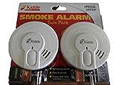 Kidde 29-FR Lot de 2 détecteurs de fumée optique – Un pour l'étage et un...